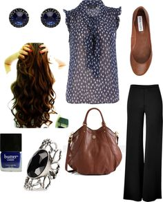 """Summer Work Outfit"" by starrysky222 on Polyvore Clearly not my hair, not will it ever be unfortunately."