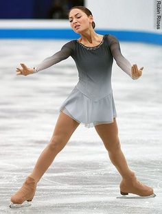 Elene Gedevanishvili -  Grey Figure Skating / Ice Skating dress inspiration for Sk8 Gr8 Designs.