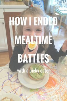 I have completely eliminated the meal time battles with my picky eater.  Find out how.