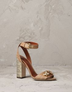 White straw high-heel sandal Women - Shoes Women on Online Store United States - Dolce & Gabbana Group