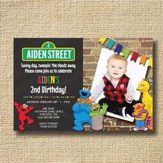 Sesame Street Birthday Invitation Elmo Birthday by creativelime