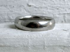 Classic Men's Vintage Plain Platinum Wedding Band - Heavy. $950.00, via Etsy.
