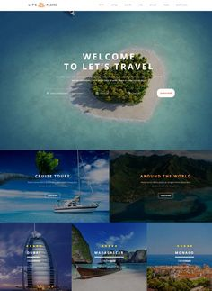 Lets Travel – Responsive Travel Booking Site Template
