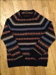 """""""I always spend some time with my family for the holidays.  This thick, wool Fair Isle print sweater by J. Crew keeps me comfortable while I'm lounging on the couch, and warm while I'm hanging the Christmas lights outside.  Not to mention the colors and patterns say """"holiday"""" — but not in the same way as, say, a reindeer sweater."""" -Michael Stefanov, Associate Fashion Editor"""