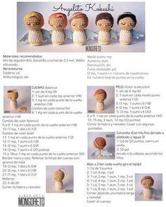 Angel amigurumi, free pattern ENGLISH by Mongoreto : Angel amigurumi, free pattern ENGLISH by Mongoreto Crochet Patterns Amigurumi, Amigurumi Doll, Crochet Stitches, Crochet Angel Pattern, Crochet Angels, Knitted Dolls, Crochet Dolls, Magic Ring Crochet, Single Crochet Stitch