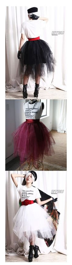 Shop punk rock tulle skirts at RebelsMarket.