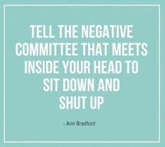 Bye Bye Negative Thoughts!
