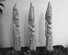 Vanuatu wood carving. South Pacific, Pacific Ocean, Island Nations, Vanuatu, Wood Carving, Behance, Statue, Gallery, Painting
