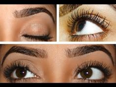 Grow eyelashes and eyebrows With in some days #health
