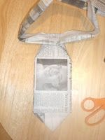 N is for newspaper necktie