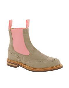 Enlarge Trickers Silvia Grey Suede Chelsea Boots