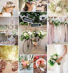 spring peach wedding