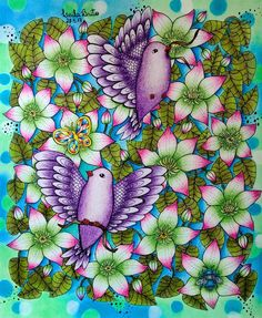 Inspirational Coloring Pages by leila brito ( Mandala Coloring, Colouring Pages, Adult Coloring Pages, Coloring Books, Love Wallpaper, Pattern Wallpaper, Colorful Garden, Colorful Flowers, Pretty Drawings