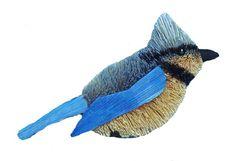 "Handmade Ornament - Blue Jay - 4"" - Mills Floral Company"