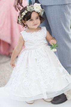 The cutest teensy tiny flower girl: http://www.stylemepretty.com/florida-weddings/miami-fl/2016/02/04/elegant-preppy-miami-wedding/ | Photography: Sambajoy - http://sambajoy.com/