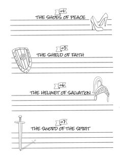 Weekly Bullet Point Journaling Sheets for The Armor of God by Priscilla Shirer – 1Arthouse