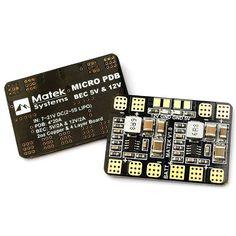 Matek Micro PDB w/ BEC 5V & 12V