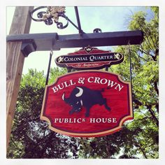 Bull & Crown Publick House, St Augustine FL Go to the Jerky Shop and get a BOGO drink coupon for this place 6-28-14