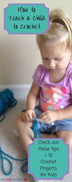 Teaching children to crochet can be difficult if you aren't sure where to start. This article will help! #crochetforkids