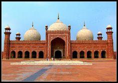 BADSHAHI MASJID a word derived from BADSHAH meaning emperor  it was built by the mugha EMPEROR AURANGZEB ALAMGIR