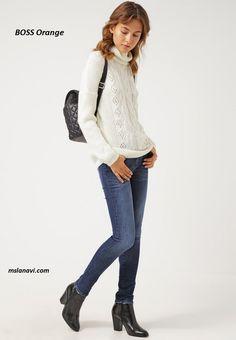 Белый свитер спицами из Заландо - СХЕМЫ #ВязаниеСпицами http://mslanavi.com/2016/04/belyj-sviter-spicami-iz-zalando/