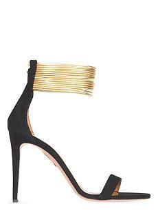 AQUAZZURA Spin me around suede heeled sandals