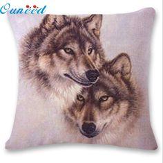 E5 FB 27 3D Cute Wolf Sofa Bed Home Decoration Festival Pillow Case Cushion Cover #Affiliate