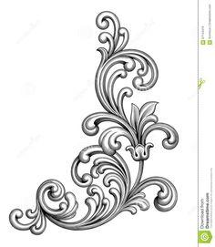 Vintage Baroque Victorian Frame Border Monogram Floral Ornament Scroll Engraved…