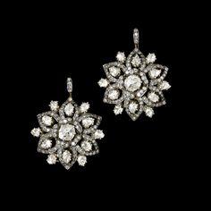 Gem Palace of Jaipur Diamond earrings 2 - Harry Fane Vintage Cartier