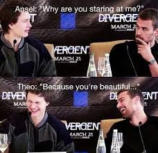 Ansel Elgort and Theo James :)