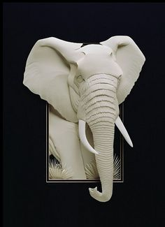 "*Paper Sculpture - ""Elephant"" by Calvin Nicholls"