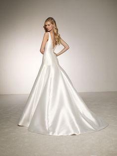 Свадебное платье с юбкой А-образного силуэта