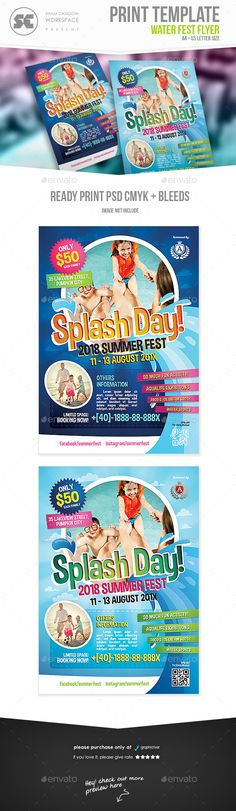 #Water #Fest #Flyer #template - #Holidays Events #design. download: https://graphicriver.net/item/water-fest-flyer/20273689?ref=yinkira