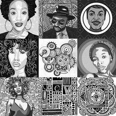 My best nine. Gosh. 2017 went way too quick.  But I'm glad it's done.  #drawing #art #rooker #life #sketch #Nairobi #art #Kenya #Adobe #draw #adobedraw #adobecapture #portrait #pattern #design #markerpenart #marker #Africa #2017bestnine