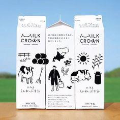 Milk Packaging, Food Packaging Design, Beverage Packaging, Packaging Design Inspiration, Brand Packaging, Graphic Design Inspiration, Branding Design, Logo Design, Label Design