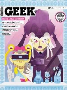 Geek Magazine - N° 15 - Novembre & Décembre 2016 Geek Magazine, Le Genre, Pdf Magazines, Wonder Woman, France, Geek Stuff, Movie Posters, Movies, Gift Guide