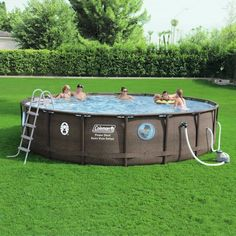 15 Ft Round 48 In Deep Steel Pro Swimming Pool Set