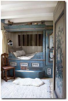 Scandinavian Box Bed, Norway and Sweden.