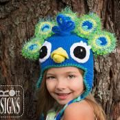 Pavo the Peacock Hat Crochet Pattern  - via @Craftsy  ~ Pattern for sale. Link correct when I checked on 23rd March 2015