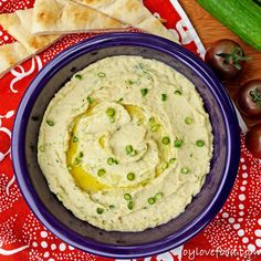 White Bean and Garlic Scape Dip