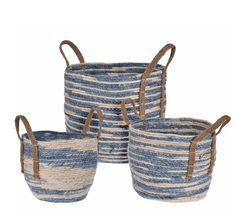BASKETS Color Azul, Retro, Wicker Baskets, Baby Shoes, Blue, Natural, Decoration, Products, Decorating Baskets