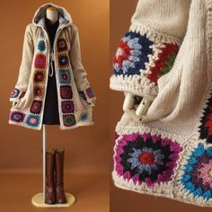 Crochet Pattern - Check this out now! Gilet Crochet, Crochet Jacket, Crochet Cardigan, Crochet Shawl, Knit Crochet, Knitting Designs, Knitting Patterns, Crochet Patterns, Crochet Buttons