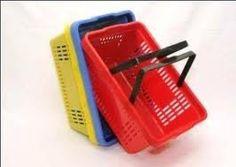 cestinha plástica para compras lojas em geral - frete gratis
