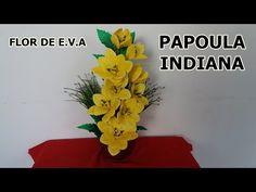 Mega Flores - Flores em EVA - AMARÍLIS (passo a passo) - YouTube