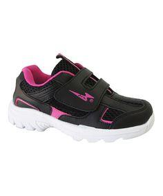 Love this Black & Fuchsia Sneaker on #zulily! #zulilyfinds