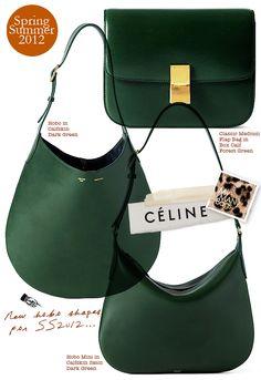celine trio bag buy - C��line emerald green and burgundy Trapeze bag <3 <3 <3 | mama's ...