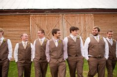 gents in brown + cream | Katelyn James #wedding