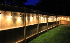 Easy-to-use backyard cafe lights for fence or patio brighten up any space! Backyard Cafe, Backyard Seating, Backyard Patio Designs, Backyard Fences, Outdoor Seating, Patio Ideas, Fenced In Backyard Ideas, Garden Ideas, Patio Decorating Ideas On A Budget