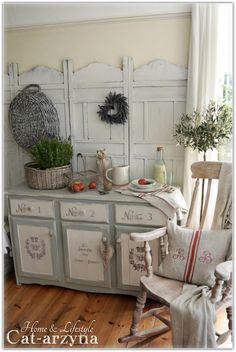 Painted buffet ~ Home & Lifestyle Cat-arzyna