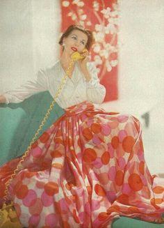 Big floral skirt 1950